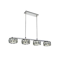 CWI Lighting Milan 28 inch LED Chandelier with Chrome Finish