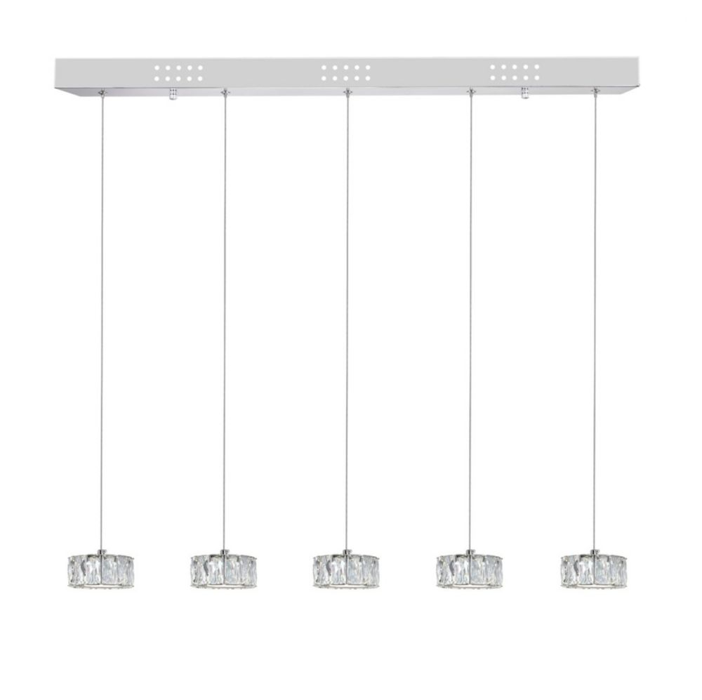 CWI Lighting Milan 32 inch LED Chandelier with Chrome Finish