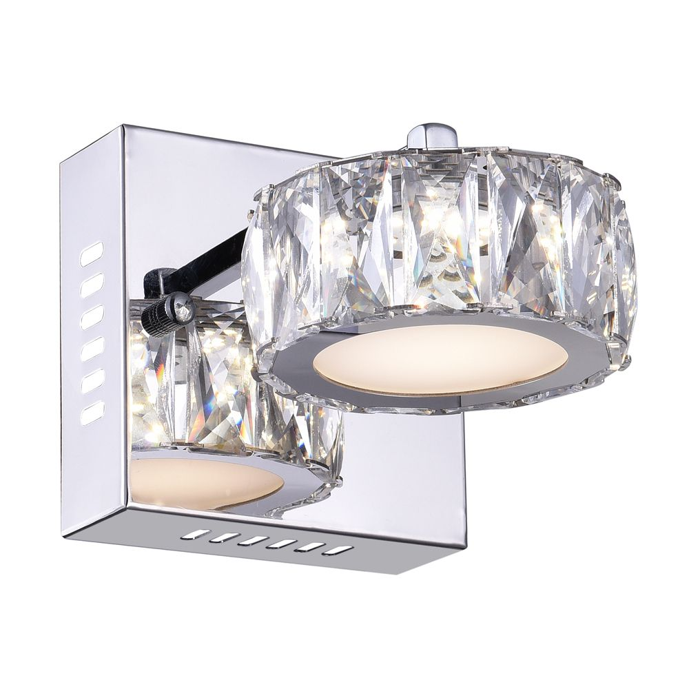 Milan 7 inch LED Wall Sconce with Chrome Finish