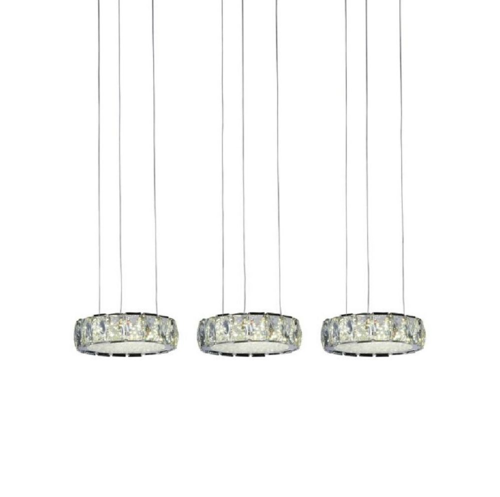 Milan 31 inch LED Chandelier with Chrome Finish