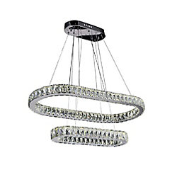 CWI Lighting Milan 34 inch LED Chandelier with Chrome Finish
