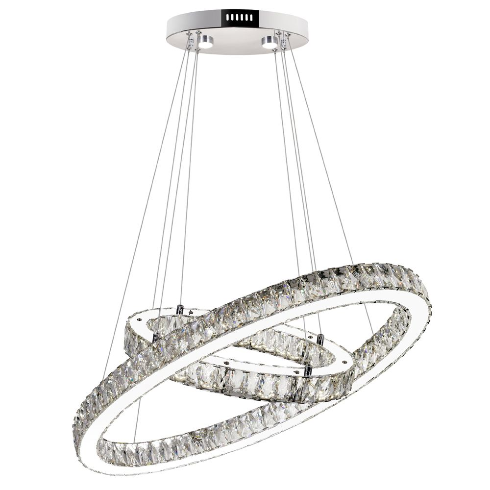 Florence 27 inch LED Chandelier with Chrome Finish