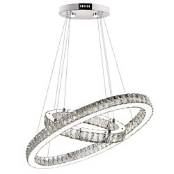 CWI Lighting Florence 27 inch LED Chandelier with Chrome Finish