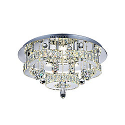 CWI Lighting Cascata 22 inch LED Flush Mount with Chrome Finish
