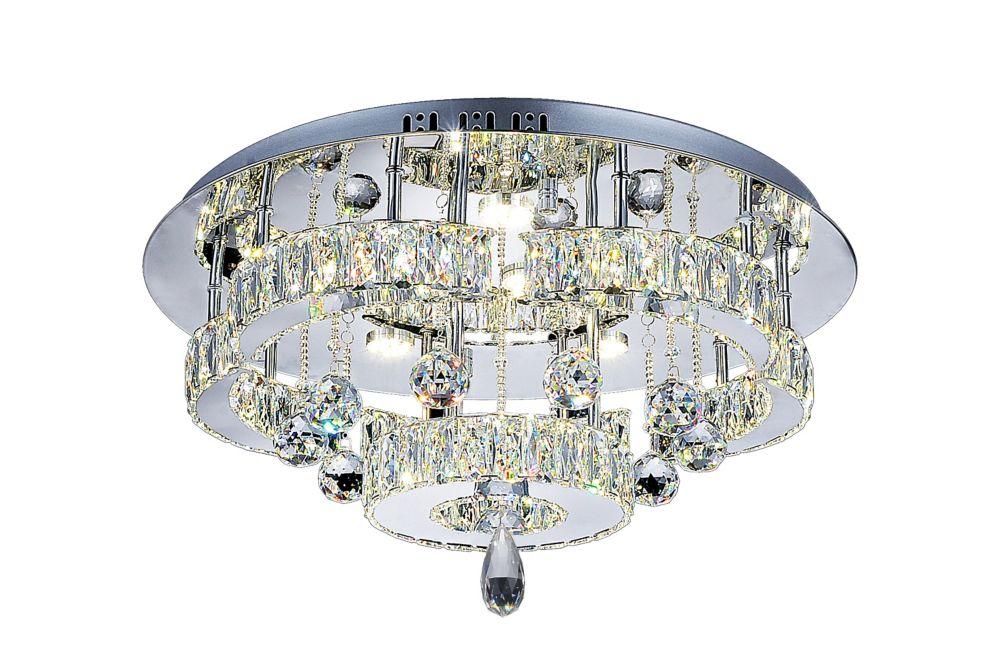 CWI Lighting Cascata 22 inch LED Flush Mount with Chrome Finish