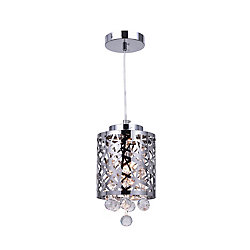 Eternity 6 inch 1 Light Mini Pendant with Chrome Finish