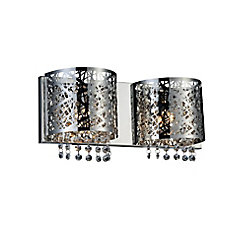 Eternity 4 inch 2 Light Wall Sconce with Chrome Finish