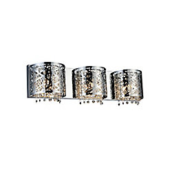 Eternity 4 inch 3 Light Wall Sconce with Chrome Finish