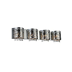 Eternity 4 inch 4 Light Wall Sconce with Chrome Finish