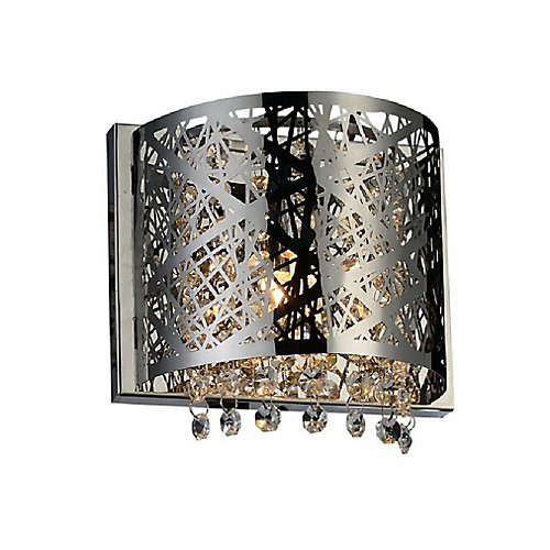 Eternity 4 inch Single Light Wall Sconce with Chrome Finish