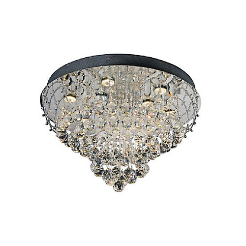 Fountain 16 inch 4 Light Flush Mount with Chrome Finish