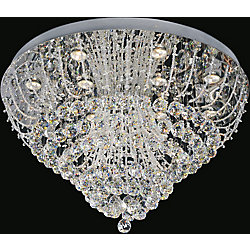 Fountain 32 inch 12 Light Flush Mount with Chrome Finish