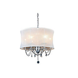 Charlotte 20 inch 6 Light Chandelier with Chrome Finish