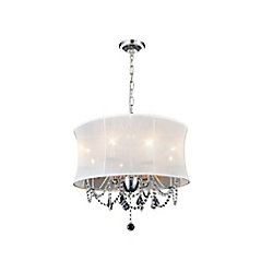 Charlotte 24 inch 8 Light Chandelier with Chrome Finish