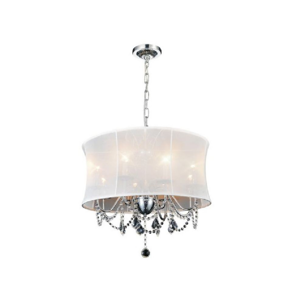 CWI Lighting Charlotte 24 inch 8 Light Chandelier with Chrome Finish