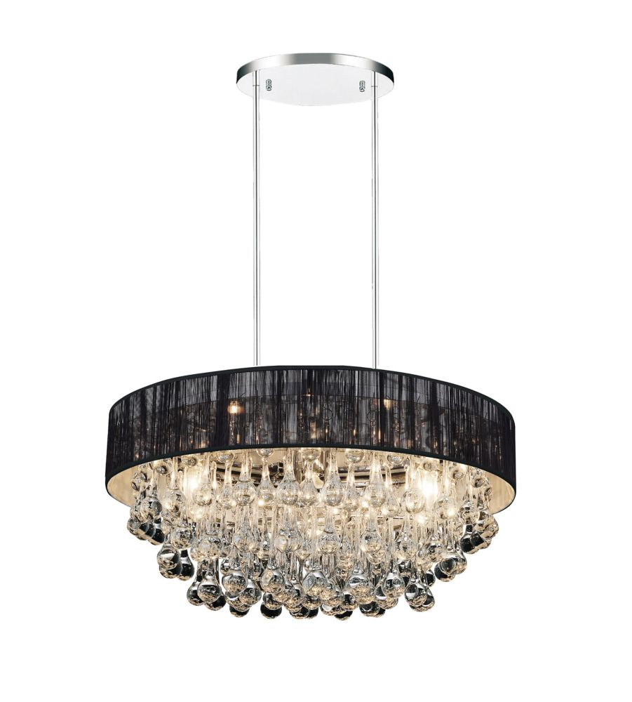 Atlantic 22-inch 8 Light Chandelier with Chrome Finish