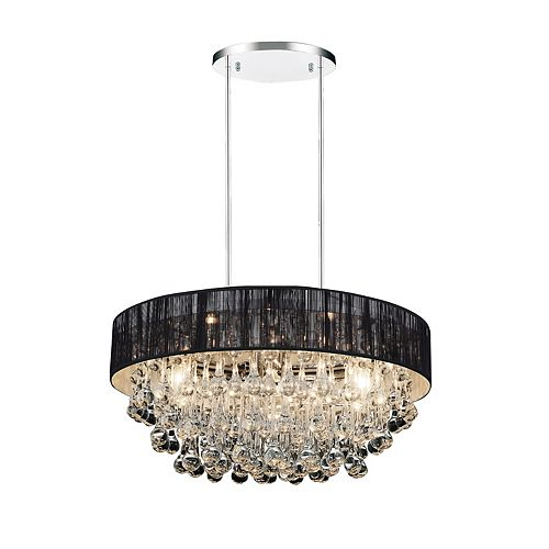 CWI Lighting Atlantic 22-inch 8 Light Chandelier with Chrome Finish