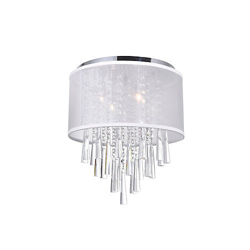 Renee 13 inch 4 Light Flush Mount with Chrome Finish