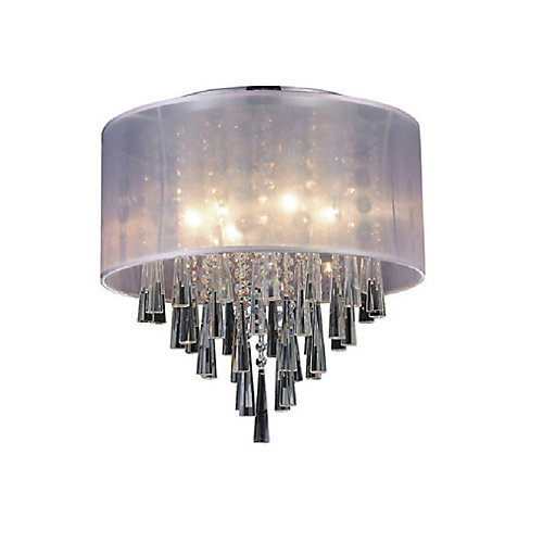 Renee 17 inch 6 Light Flush Mount with Chrome Finish