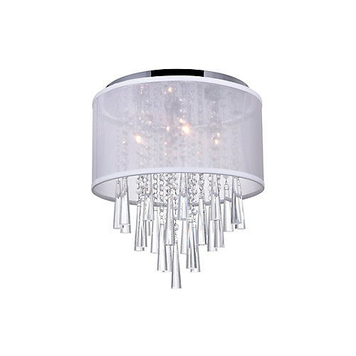 Renee 19 inch 8 Light Flush Mount with Chrome Finish