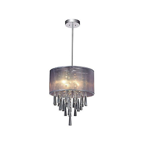 Renee 13 inch 4 Light Mini Pendant with Chrome Finish From