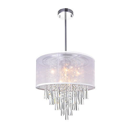 Renee 17 inch 6 Light Chandelier with Chrome Finish