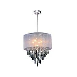 Renee 19 inch 6 Light Chandelier with Chrome Finish