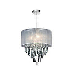CWI Lighting Renee 19 inch 6 Light Chandelier with Chrome Finish