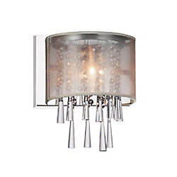 CWI Lighting Renee 5 inch Single Light Wall Sconce with Chrome Finish