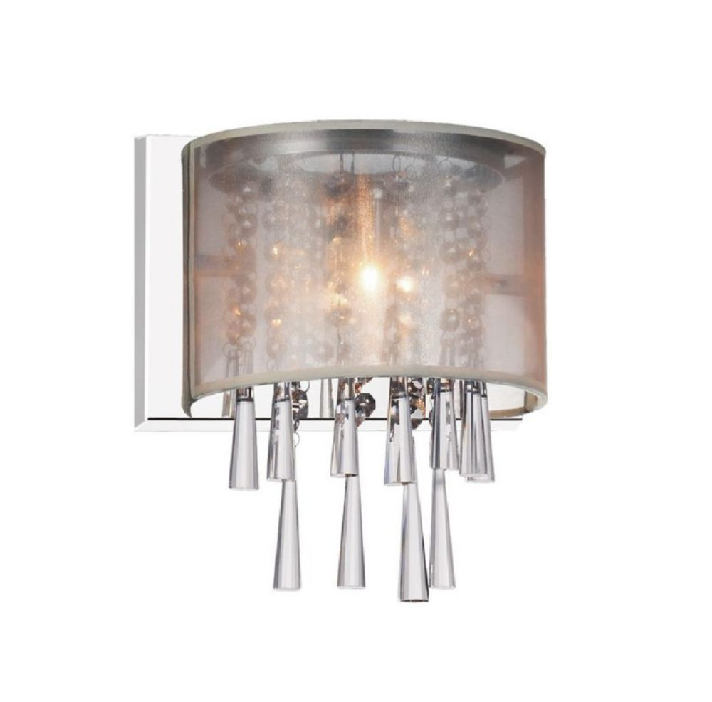 Renee 5 inch Single Light Wall Sconce with Chrome Finish