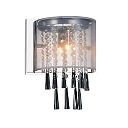 CWI Lighting Renee 5-inch Single Light Wall Sconce with Chrome Finish