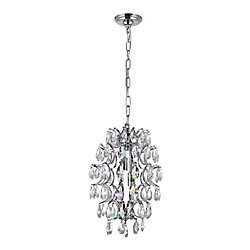 Charismatic 9-inch 2 Light Mini Pendant with Chrome Finish