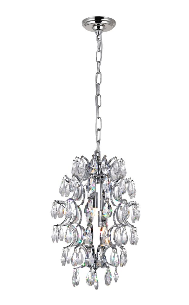 CWI Lighting Charismatic 9-inch 2 Light Mini Pendant with Chrome Finish