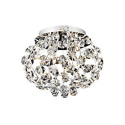 Josie 16 inch 4 Light Flush Mount with Chrome Finish