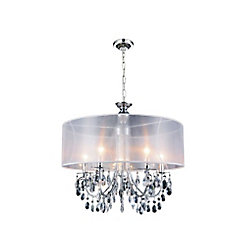 Halo 22 inch 5 Light Chandelier with Chrome Finish
