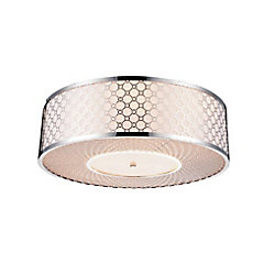 Swiss 20 inch 5 Light Flush Mount with Chrome Finish