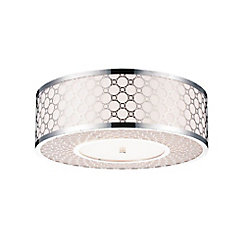 Swiss 22 inch 5 Light Flush Mount with Chrome Finish