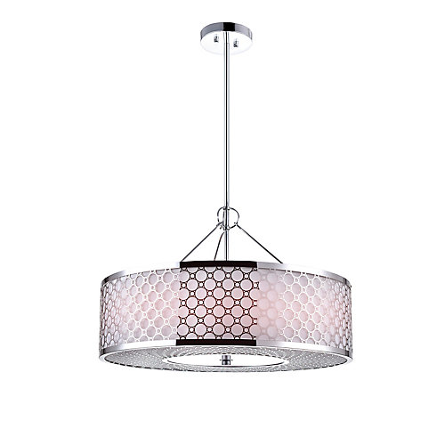 Swiss 16 inch 4 Light Chandelier with Chrome Finish