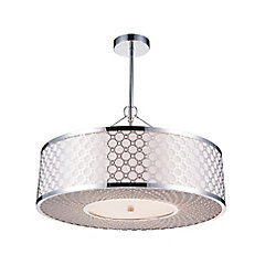 Swiss 22 inch 5 Light Chandelier with Chrome Finish