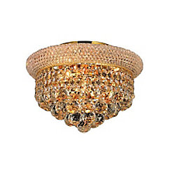 Empire 12 inch 4 Light Flush Mount with Gold Finish