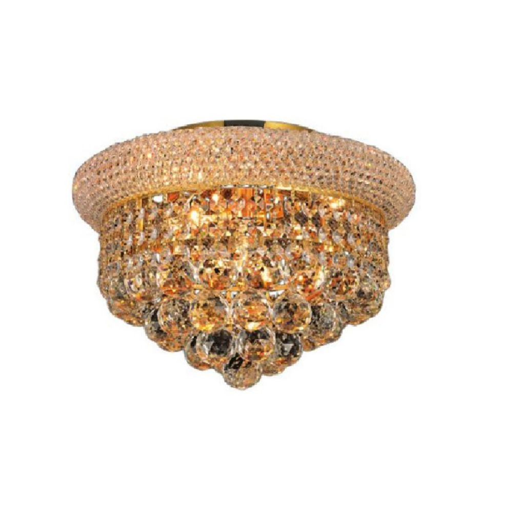 CWI Lighting Empire 12 inch 4 Light Flush Mount with Gold Finish