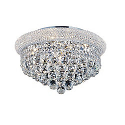 Empire 18 inch 5 Light Flush Mount with Chrome Finish