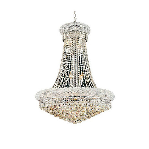 Empire 28 inch 18 Light Chandelier with Chrome Finish