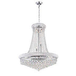 Empire 32 inch 19 Light Chandelier with Chrome Finish
