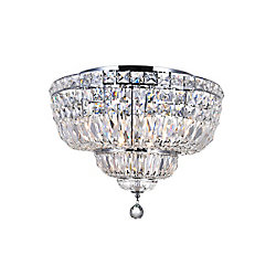 Stefania 20 inch 8 Light Flush Mount with Chrome Finish