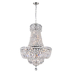 Stefania 22 inch 13 Light Chandelier with Chrome Finish