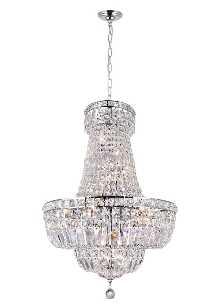 CWI Lighting Stefania 22 inch 13 Light Chandelier with Chrome Finish