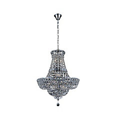 Stefania 31 inch 17 Light Chandelier with Chrome Finish