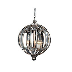 Colorado 18 inch 5 Light Chandelier with Antique Forged Silver Finish