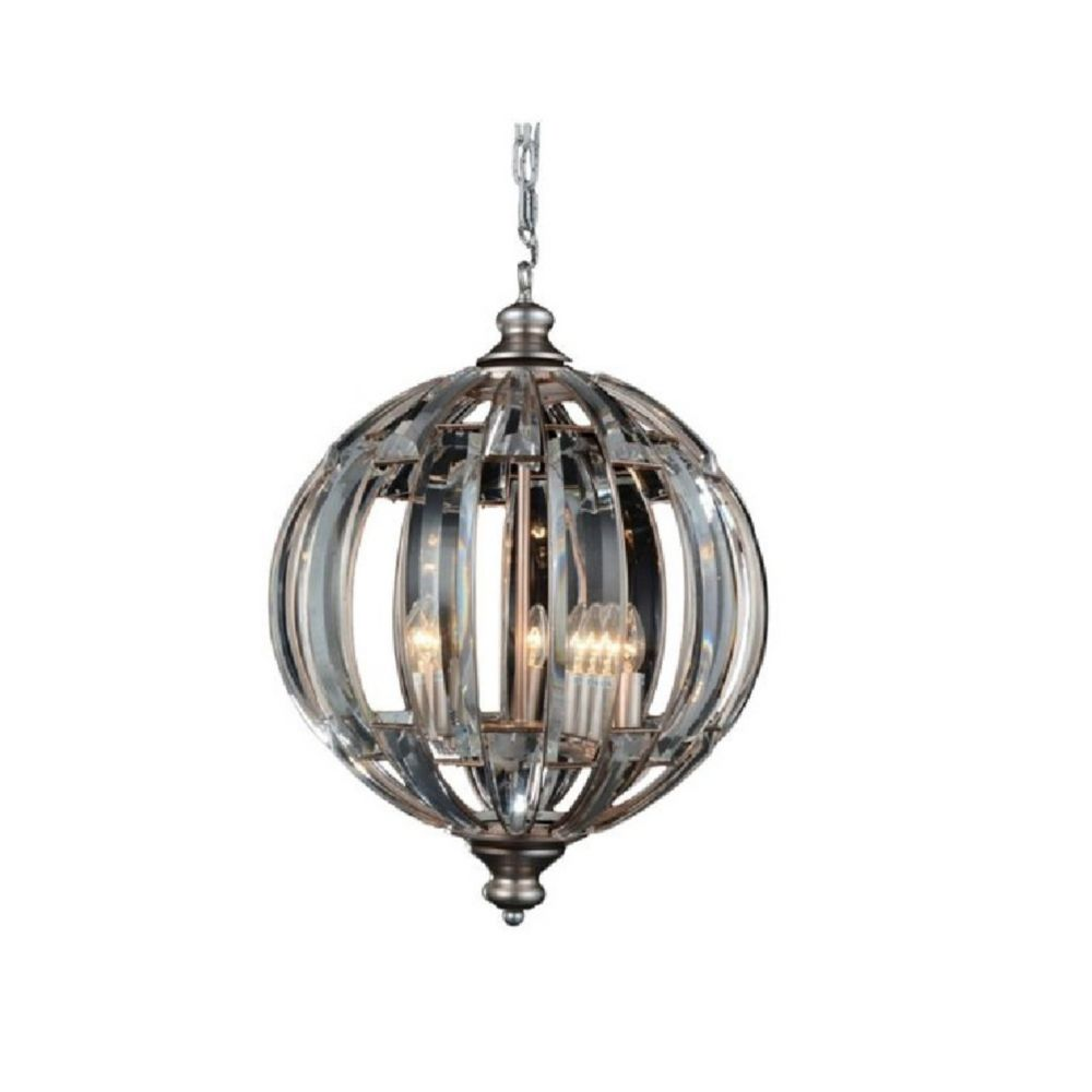 CWI Lighting Colorado 18 inch 5 Light Chandelier with Antique Forged Silver Finish